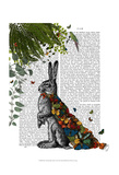 Hare with Butterfly Cloak Prints by  Fab Funky