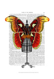 Mannequin Red And Yellow Butterfly Poster by  Fab Funky