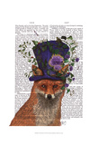 Fox Mad Hatter Print by  Fab Funky