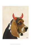 Little Devil Basset Hound Posters by  Fab Funky