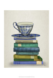 Teacup and Books Poster von  Fab Funky