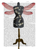 Dragonfly Mannequin Prints by  Fab Funky