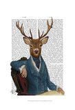 Distinguished Deer Portrait Prints by  Fab Funky