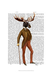 Moose In Suit Full Poster par  Fab Funky