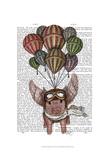Pig And Balloons Kunstdrucke von  Fab Funky