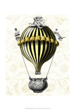 Baroque Balloon Black Yellow Prints by  Fab Funky