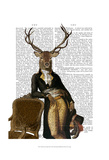 Deer and Chair Full Art by  Fab Funky