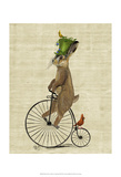 March Hare on Penny Farthing Posters by  Fab Funky