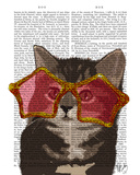 Kitten in Star Sunglasses Posters by  Fab Funky