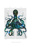 Fishy Blue Octopus Posters par  Fab Funky