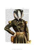 General Badger Prints by  Fab Funky