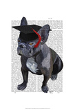 Graduation French Bulldog Posters by  Fab Funky
