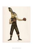 Boxing Hare Affiche par  Fab Funky