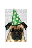 Party Pug Posters by  Fab Funky