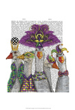 Mardi Gras Gaggle of Geese Prints by  Fab Funky