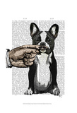 French Bulldog and Finger Moustache Posters by  Fab Funky