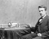 Thomas Edison and Phonograph Photo
