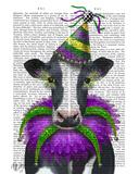 Mardi Gras Cow Print by  Fab Funky