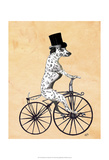 Dalmatian On Bicycle Plakater af Fab Funky