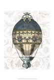 Baroque Balloon Blue & Cream Posters by  Fab Funky