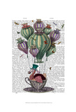 Dodo in Teacup with Dragonflies Prints by  Fab Funky