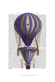 Tiered Hot Air Balloon Blue Prints by  Fab Funky