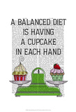 A Balanced Diet Illustration Posters by  Fab Funky