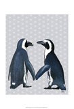 Penguins In Love Posters by  Fab Funky