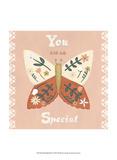 Folk Butterfly II Art by June Erica Vess