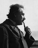 Albert Einstein Smoking Pipe Photo