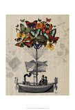 Butterfly Airship Prints by  Fab Funky