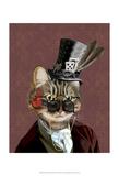 Phileas Feline Steampunk Cat Posters van  Fab Funky