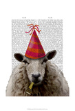 Party Sheep Posters by  Fab Funky