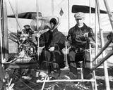 Wilbur and Katharine Wright Preparing for Flight Photo