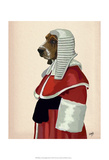 Basset Hound Judge Portrait Prints by  Fab Funky