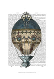 Baroque Fantasy Balloon 1 Print by  Fab Funky
