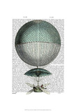 Vaisseau Volant Hot Air Balloon Poster by  Fab Funky