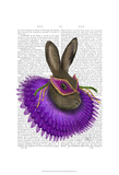 Mardi Gras Hare Affiches par  Fab Funky