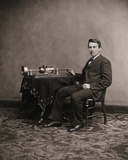 Thomas Edison and His Phonograph Photo