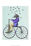 Zebra On Bicycle Prints by  Fab Funky