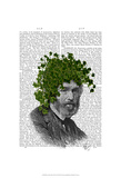 Ivy Head Plant Head Art by  Fab Funky