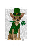 Chihuahua Leprechaun Posters by  Fab Funky