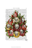 Bouquet of Skulls Prints by  Fab Funky