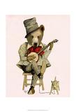 Fab Funky - Banjo Bear - Art Print