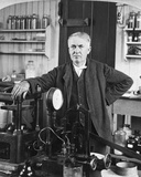 Thomas Edison in His Laboratory Photo