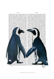Penguins in Love Poster by  Fab Funky