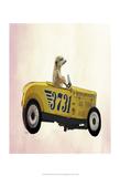 Meerkat in Hot Rod Plakaty autor Fab Funky