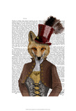 Vivienne Steampunk Fox Poster by  Fab Funky