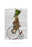 March Hare on Penny Farthing Prints by  Fab Funky
