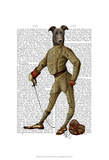 Greyhound Fencer Dark Full Posters by  Fab Funky